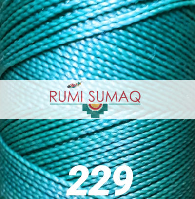 1mm Linhasita 229 Aqua Blue Waxed Polyester Cord | Rumi Sumaq Waxed Thread for Beading, Macrame Jewelry, Hand Stitching, Quilting, Basket Making and Leather Working