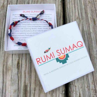 4th of July Bracelet   Rumi Sumaq American Flag Patriotic Team USA Bracelets Handmade on Martha's Vineyard