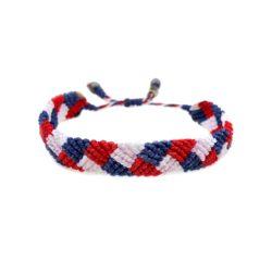 4th of July Bracelet | Rumi Sumaq American Flag Patriotic Team USA Bracelets Handmade on Martha's Vineyard