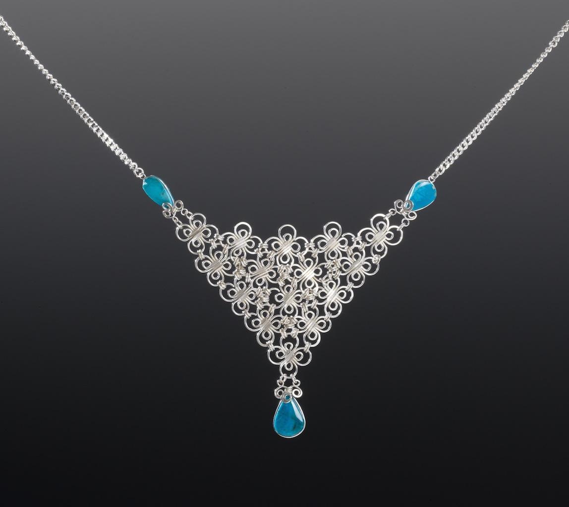 Silver Necklace by Designer Coco Paniora Salinas of Rumi Sumaq rumisumaq.com