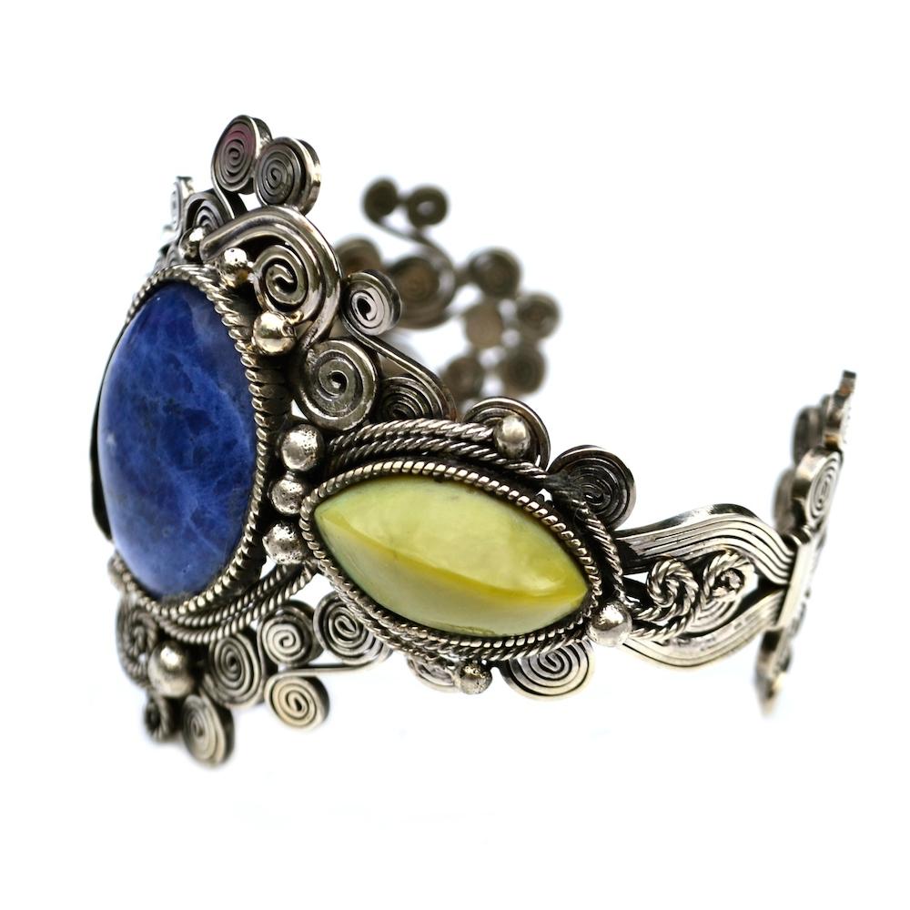 Willka art jewelry wirework bracelet by designer Coco Paniora Salinas of Rumi Sumaq