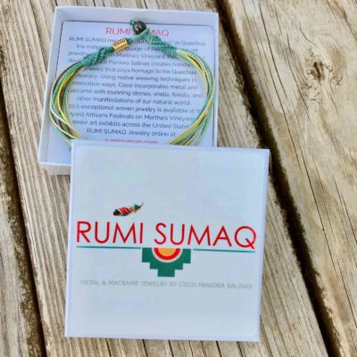Beach anklets by RUMI SUMAQ | Aqua, yellow, mint green multi srand string ankle bracelet custom sized for men women and kids | Handmade on Martha's Vineyard