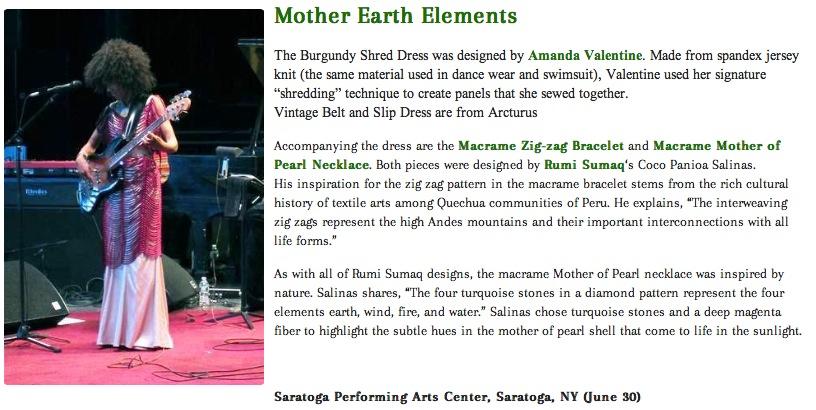 Rumi Sumaq Jewelry in Esperanza Spalding's Style Blog