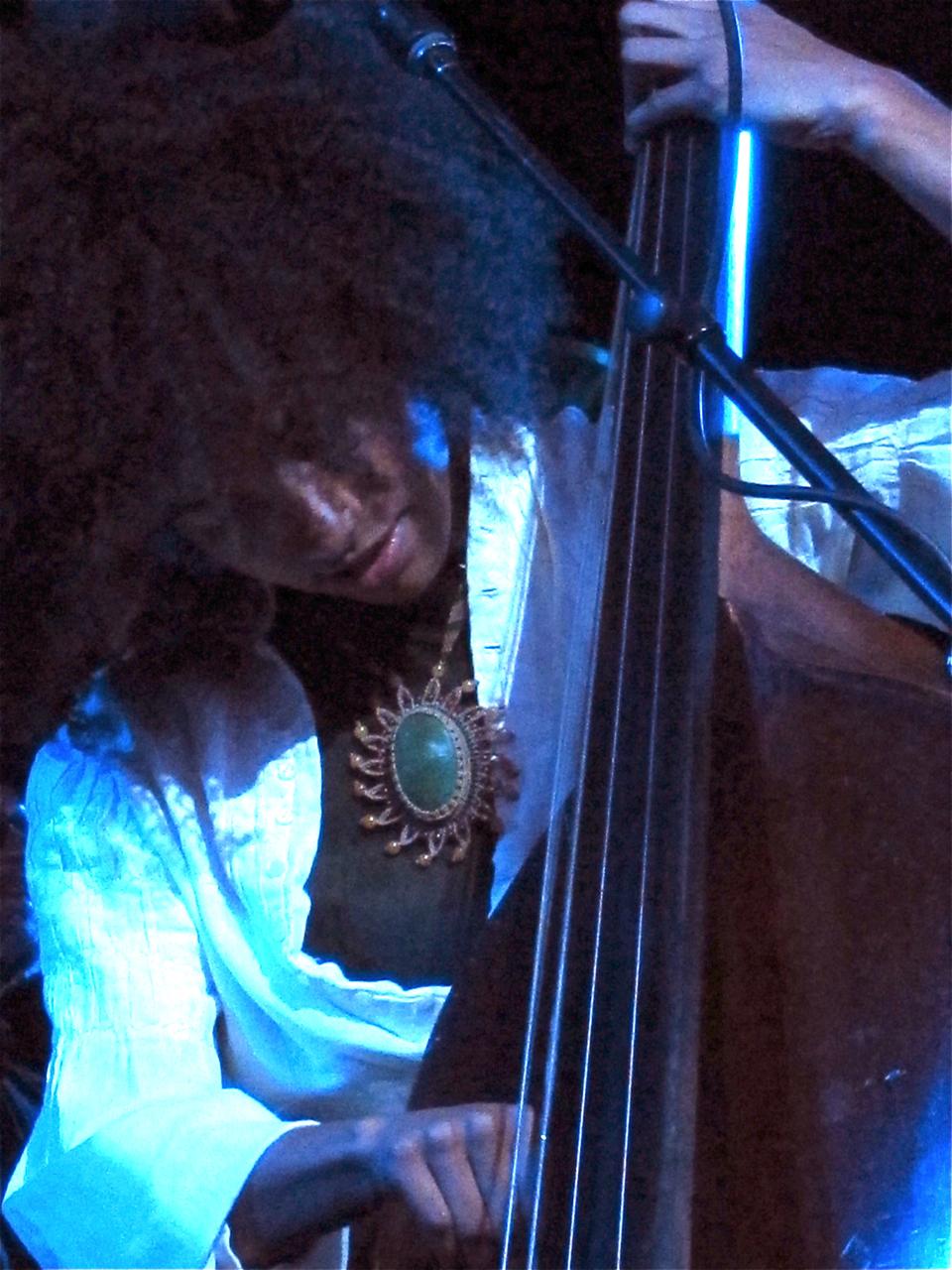 Esperanza Spalding wearing Rumi Sumaq