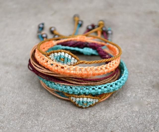 Rumi Sumaq Macrame Bracelets #pileiton #festival #fashion
