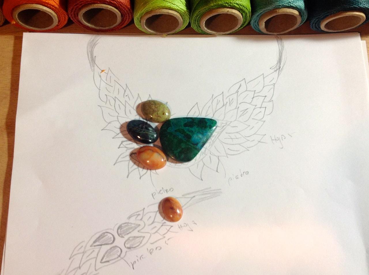 """Macrame fiber jewelry"""