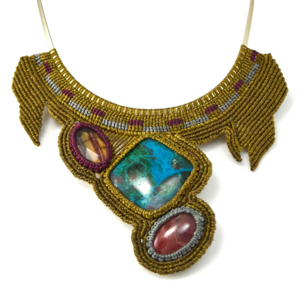 Macrame Necklace Pictures to pin on PinterestMinecraft Stone Wallpaper