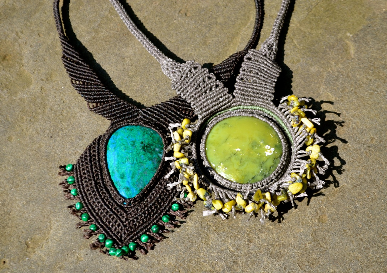 Fringe Necklaces by Coco Paniora Salinas of Rumi Sumaq