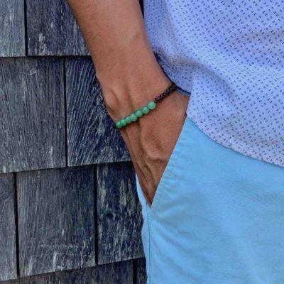 Jade Bangle Bracelet | Rumi Sumaq Green Gemstone Macrame Bracelets