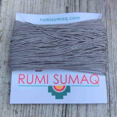 Linhasita 208 Platinum Gray 1mm Waxed Polyester Cord | RUMI SUMAQ Waxed Threads Hilo Encerado