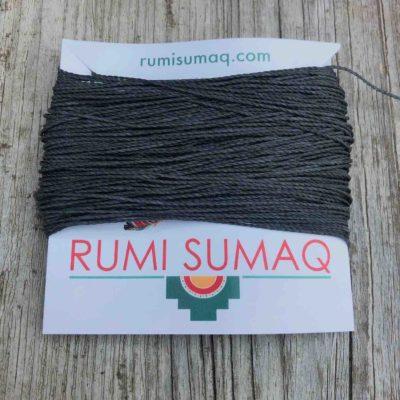 Linhasita 209 Dark Gray Green Waxed Thread | RUMI SUMAQ 1mm Waxed Polyester Cord
