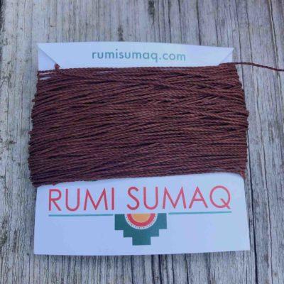 Linhasita 212 Copper 1 mm waxed polyester Cord | Rumi Sumaq Waxed Cords