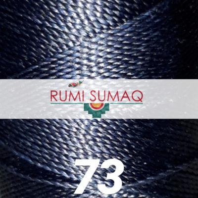 Linhasita 73 Navy 1mm Waxed Polyester Cord | Rumi Sumaq Waxed Thread for Beading, Macrame Knotting and Jewelry Making