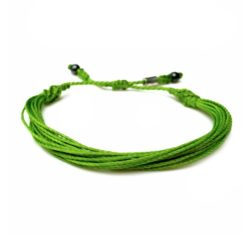 Lime green awareness bracelet by Rumi Sumaq