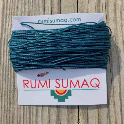 Linhasita 228 Turquoise Blue 1mm Waxed Polyester Cord | RUMI SUMAQ