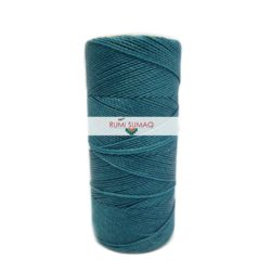 Linhasita 228 Turquoise Blue 1mm Waxed Polyester Cord | RUMI SUMAQ