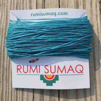 Linhasita 229 Aqua Blue 1mm Waxed Polyester Cord | RUMI SUMAQ Waxed String