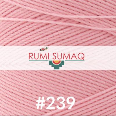 Linhasita 239 Pale Pink Waxed Polyester Cord   RUMI SUMAQ