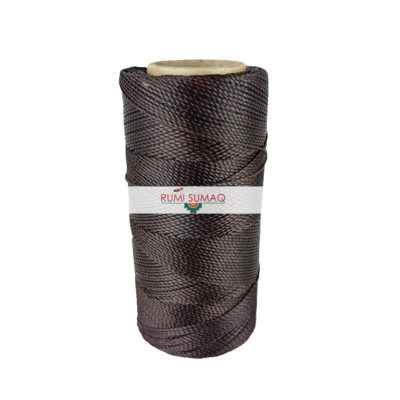 Linhasita 29 Espresso Brown Waxed Polyester Cord | RUMI SUMAQ Knotting Cord for Macrame Projects