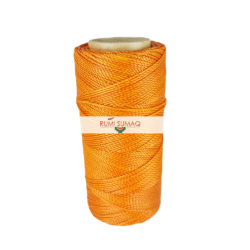Linhasita 30 Orange 1mm Waxed Thread | Rumi Sumaq Waxed Polyester Cord for Scrapbooking, Leather Stitching, Basketry and Macrame Jewelry Making