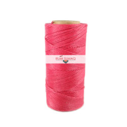Find Linhasita 545 hot pinkl 1mm waxed polyester cord at RUMI SUMAQ, the premier retailer for waxed cords for basketry, jewelry making, beading, quilting