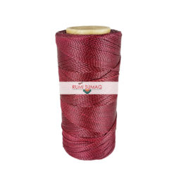 Linhasita 60 maroon waxed polyester cord 1mm waxed thread for beading and friendship bracelets | Rumi Sumaq 1mm waxed craft cord