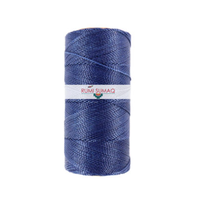 Linhasita 70 Indigo Blue 1mm Waxed Polyester Cord | RUMI SUMAQ 2-ply Cord for Quilting, Basket Making and Macrame Knotting