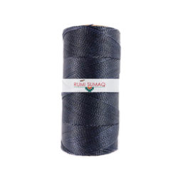 Linhasita 73 Navy 1mm Waxed Polyester Cord | Rumi Sumaq Waxed Thread for Beading, Macrame Knotting and Jewelry Making