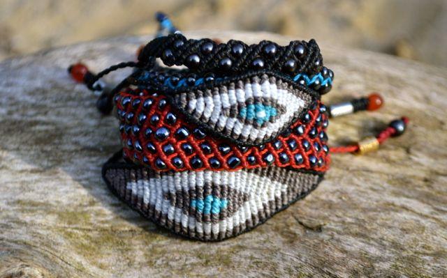 Hand-knotted, macrame friendship bracelets by Coco Paniora Salinas of Rumi Sumaq rumisumaq.com