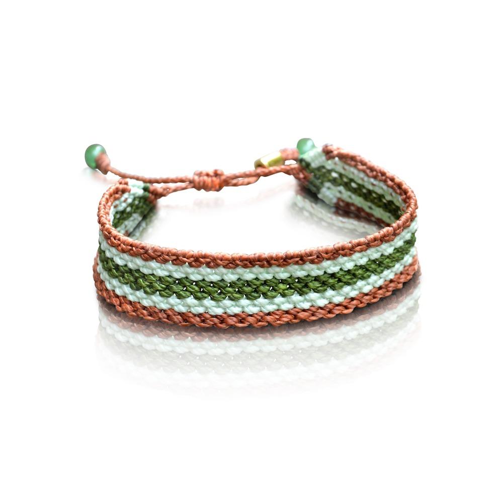 Fiber macrame bracelet by designer Coco Paniora Salinas of Rumi Sumaq rumisumaq.com