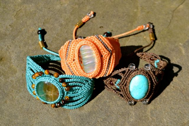 Macrame Bracelets by Coco Paniora Salinas of Rumi Sumaq rumisumaq.com