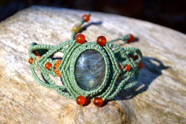 Hand-knotted, macrame bracelet by Coco Paniora Salinas of Rumi Sumaq rumisumaq.com