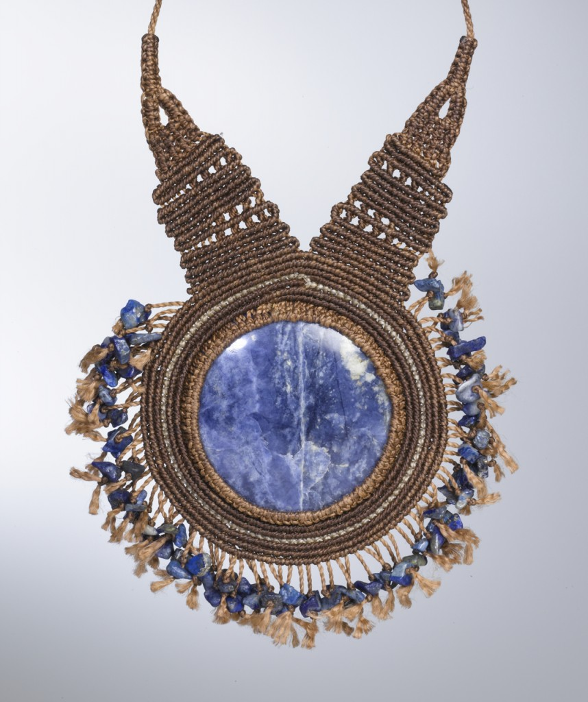Contemporary Macrame Necklace by Coco Paniora Salinas of Rumi Sumaq