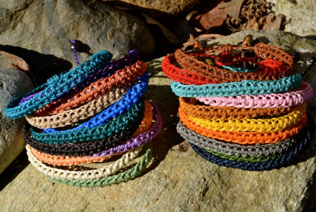 Macrame friendship bracelets by Coco Paniora Salinas of Rumi Sumaq rumisumaq.com