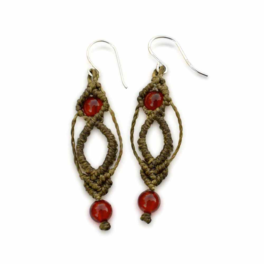 earrings natural stones stone pin and serpentine