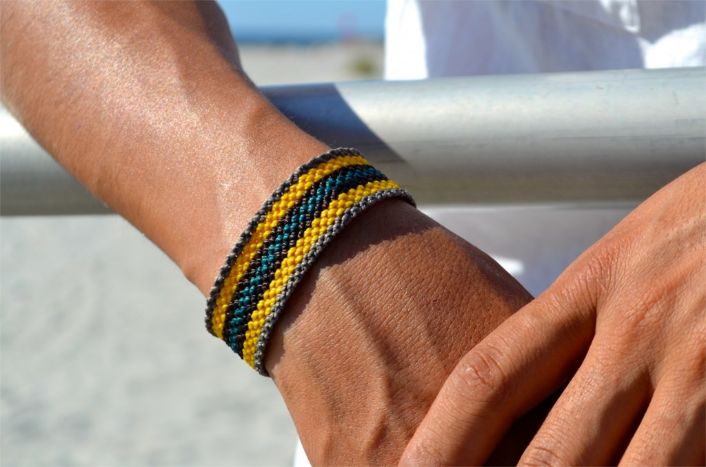 Men's Macrame Bracelet by Coco Paniora Salinas of Rumi Sumaq menswear mens jewelry