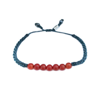 Fire Agate Bracelet | Rumi Sumaq Macrame Gemstone Jewelry Handmade on Martha's Vineyard by Designer Coco Paniora Salinas