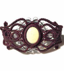 Moonstone Macrame Bracelet | Rumi Sumaq