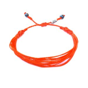 Orange awareness bracelet by Rumi Sumaq