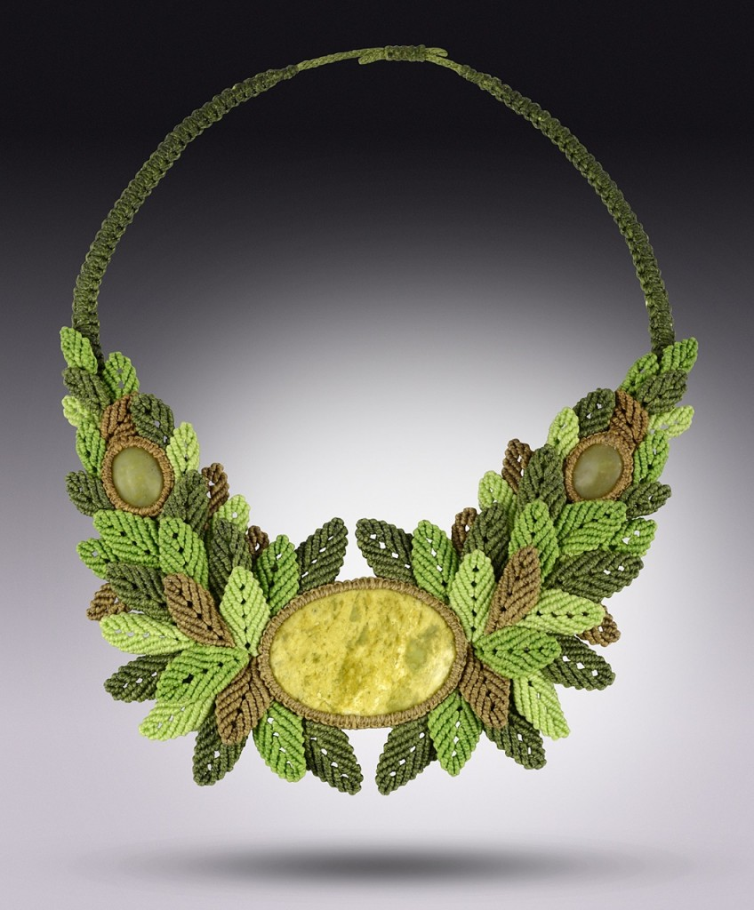 Macrame necklace Swinging Through Trees by Coco Paniora Salinas of Rumi Sumaq