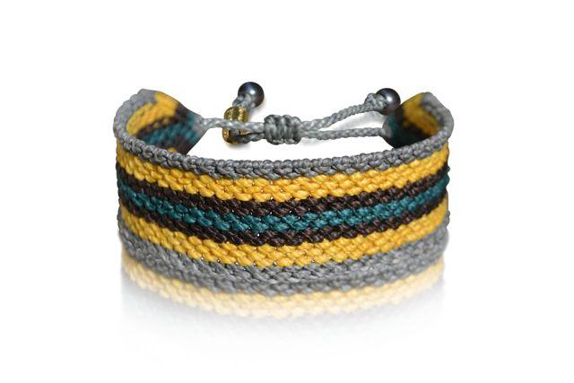 Rumi Sumaq Men's Macrame Bracelet by Designer Coco Paniora Salinas