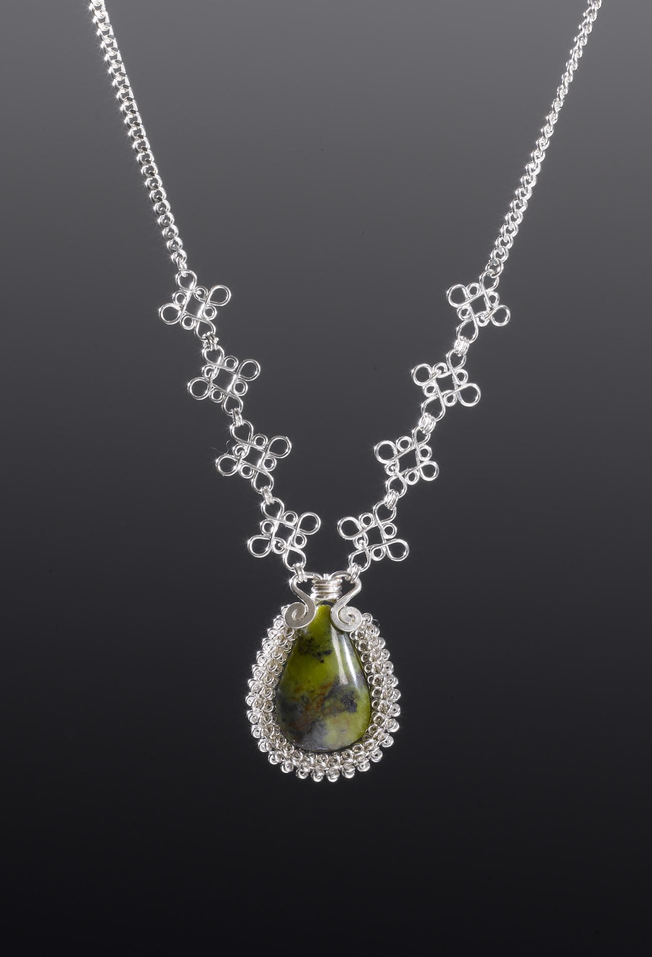macchu silver necklace by designer coco paniora salinas