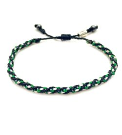 Sailor Rope Bracelet Black Green White by Rumi Sumaq