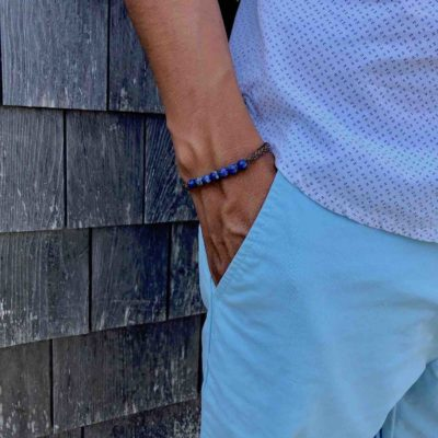 Sodalite Bracelet | Gemstone Macrame Bracelets by RUMI SUMAQ