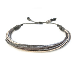 String Surfer Bracelet Grey by RUMI SUMAQ