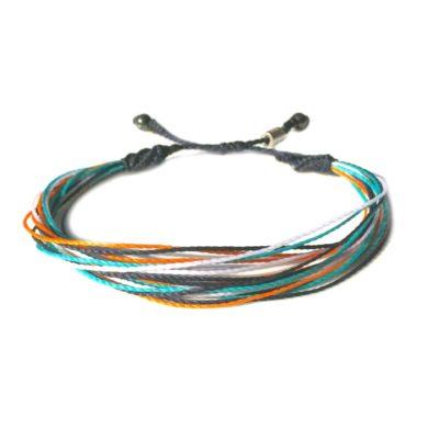 RUMI SUMAQ String Surfer Bracelet Navy Blue Aqua Orange