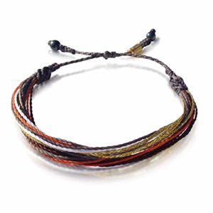 String Surfer Bracelet in Violet Gold Orange by Rumi Sumaq: Rumi Sumaq Surfer Bracelets Handmade on Martha's Vineyard
