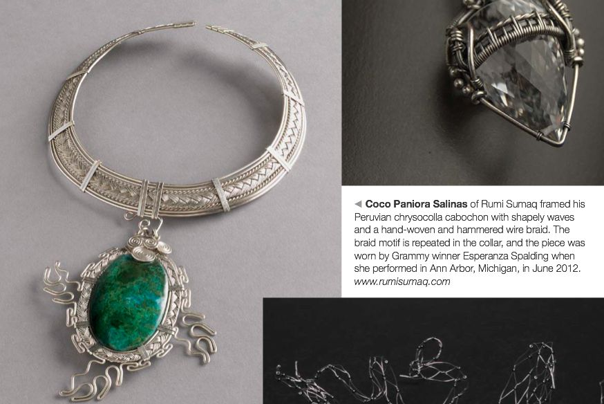 Rumi Sumaq Waves Necklace by designer Coco Paniora Salinas featured in Wirework Magazine rumisumaq.com