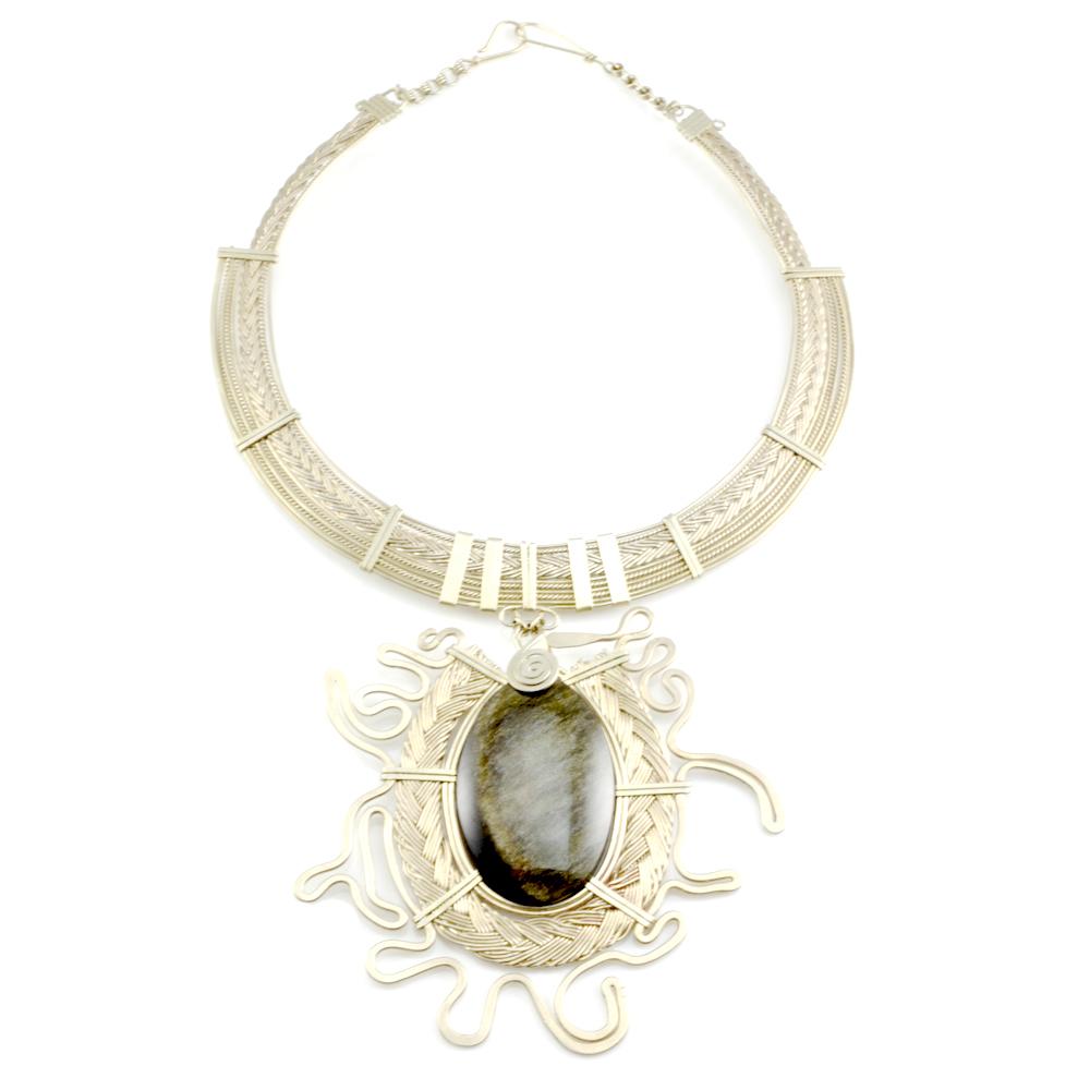 Art jewelry wirework Yma necklace
