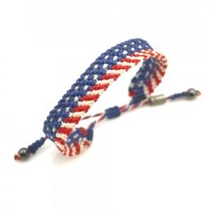 American Flag Macrame Bracelet